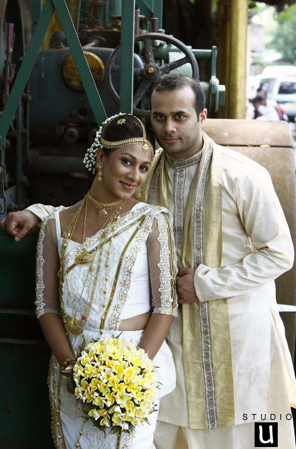 In the Evening Both of the were change their dress from traditional ...